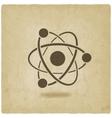 molecule atom symbol vector image
