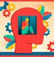 neurology character depression vector image vector image