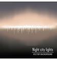 night city lights background vector image