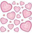 Ornate decorative heart set vector image vector image