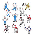 painter cartoon set vector image vector image
