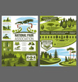 parks and forests maintenance landscape design vector image