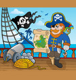 pirate ship deck topic 2 vector image vector image