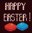 pixel happy easter vector image