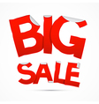 Red Big Sale Sticker - Label on white background vector image vector image
