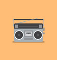 retro radio and cassette player vector image