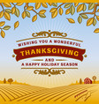 retro thanksgiving greeting card vector image