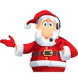 Santa Claus Call Center Cartoon vector image vector image