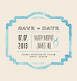 Save the Date with watercolor frame vector image vector image