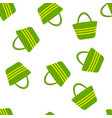 seamless pattern with beach bags vector image