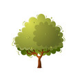 season green tree in farm garden without some vector image vector image
