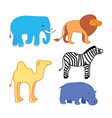 set of african animal stickers safari set to vector image