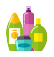 set of colorful care products vector image