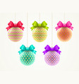 set of multicolored christmas baubles vector image