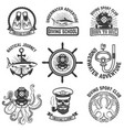 set of scuba diving club emblems design elements vector image vector image