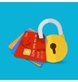 Set of secure credit card vector image