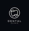 simple dental teeth logo design vector image