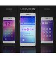 Smartphones Lock Screen Designs vector image vector image
