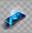 smartphones security controls futuristic smart vector image vector image