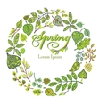 Spring compositionbackgroundGreen Leaves vector image vector image