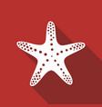 starfish in flat style vector image vector image