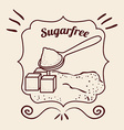 sugar free product vector image vector image