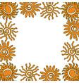 sun frame empty template vector image