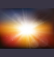 sun with rays summer background vector image