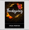 thanksgiving card with wheat spikes maple leaves vector image vector image