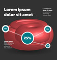 three dimensional abstract shape infographic vector image vector image