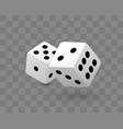 transparent of two dice vector image