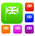 uk flag set collection vector image vector image