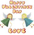Valentine Fairys flying with love isolated on vector image vector image