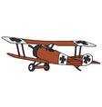 vintage germany biplane vector image