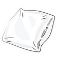 white pillow on white background vector image vector image