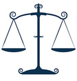 Justice Scales Isolated vector image