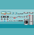 electronics store interior vector image