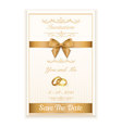 Gold ring wedding invitation EPS10 vector image
