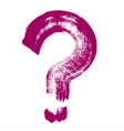 Original hand-painted question symbol vector image
