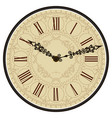 antique old clock face vector image