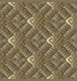 3d textured greek seamless pattern vector image