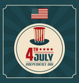 4th july independence day united stated of america vector image vector image
