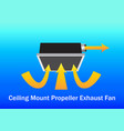 air flow system ceiling mount exhaust fan vector image vector image