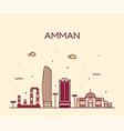 amman skyline jordan big city linear style vector image vector image