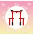 arch japan culture design vector image vector image