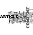 are you an article zombie text word cloud concept vector image vector image