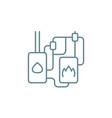autonomous heating system linear icon concept vector image vector image