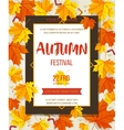 Autumn festival background Invitation banner with vector image vector image