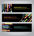 banner covers with flat geometric pattern vector image vector image