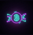 bitcoin neon sign night bright advertisement vector image